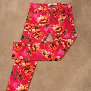Abercrombie and Fitch floral jeans